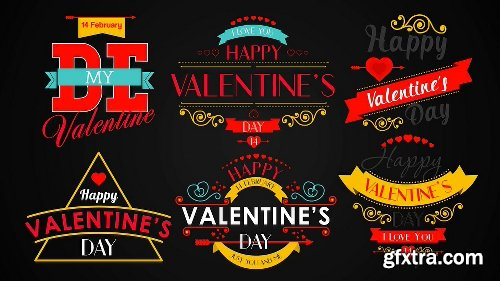 Videohive Happy Valentine's Day Badges Pack 10298813