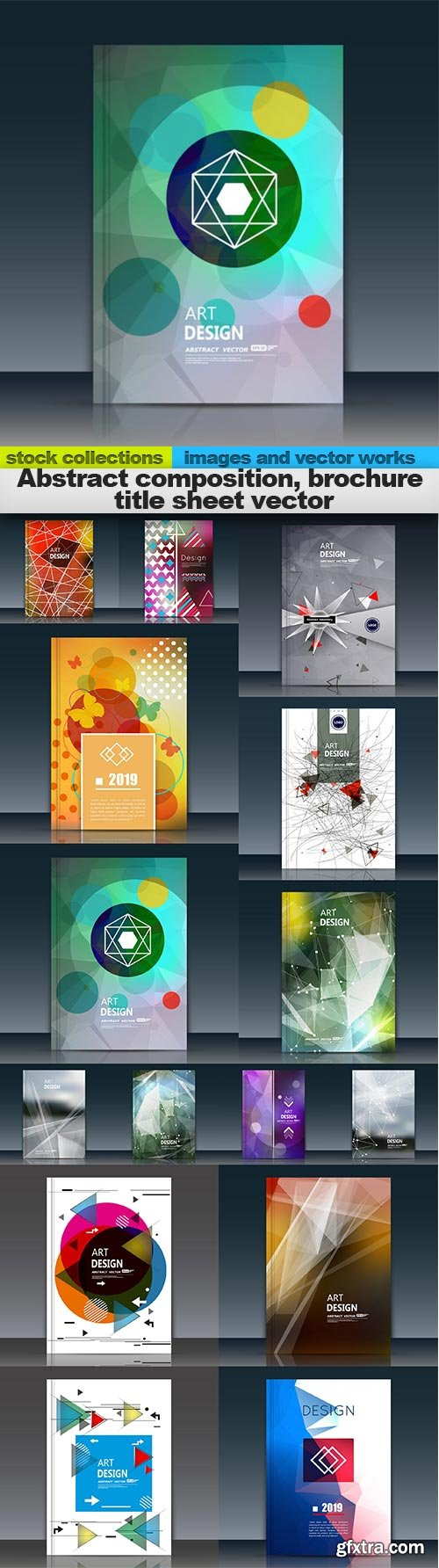 Abstract composition, brochure title sheet vector, 15 x EPS