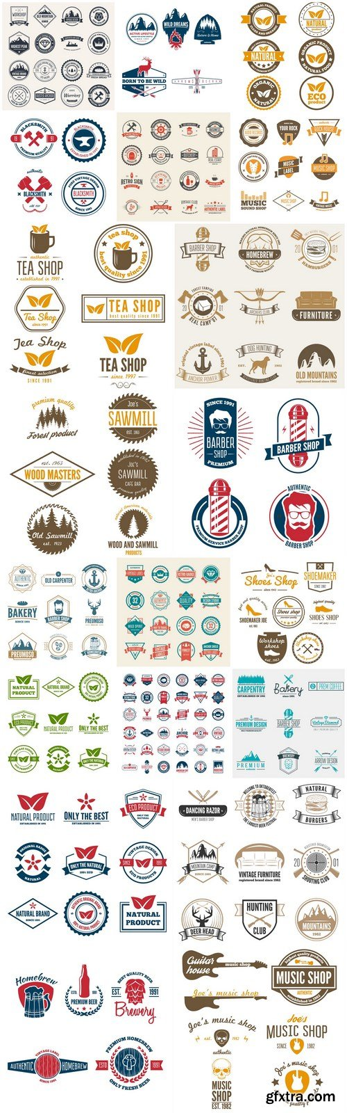 Different Labels And Stickers #147 - 20 Vector