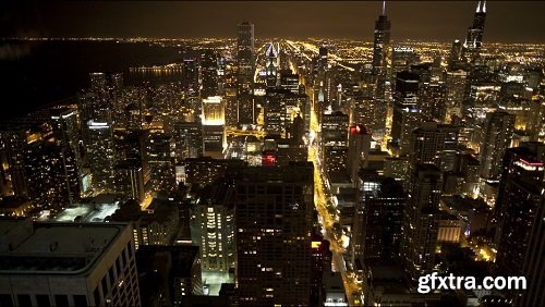Scenic night timelapse in chicago