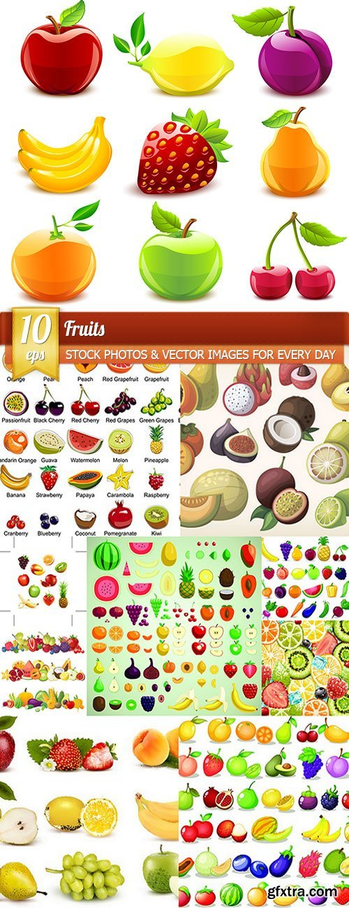 Fruits, 10 x EPS