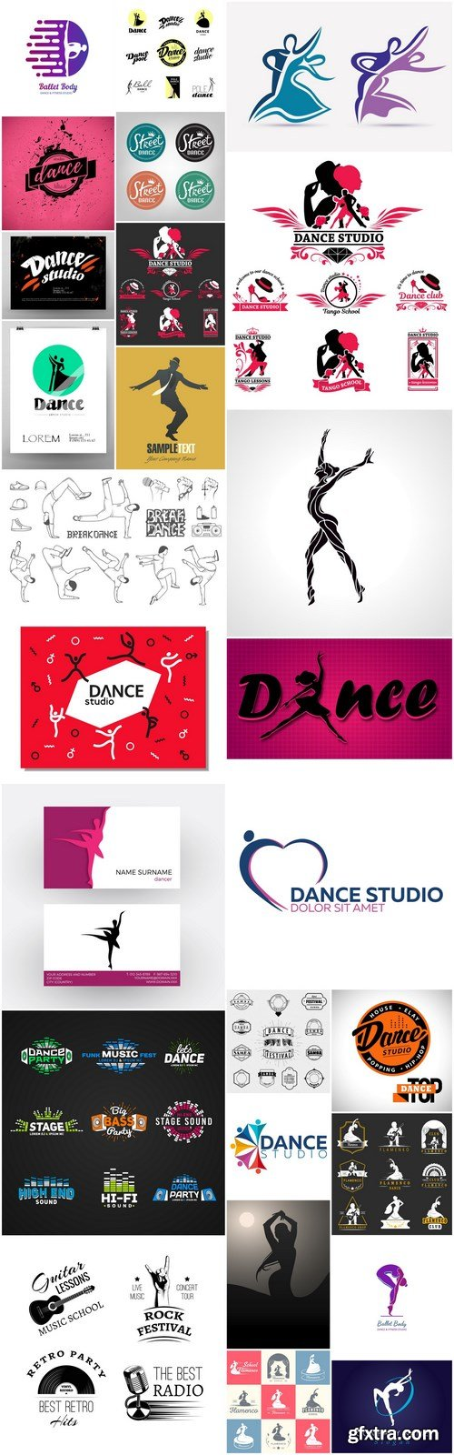 Dance Studio Logo - 26 Vector