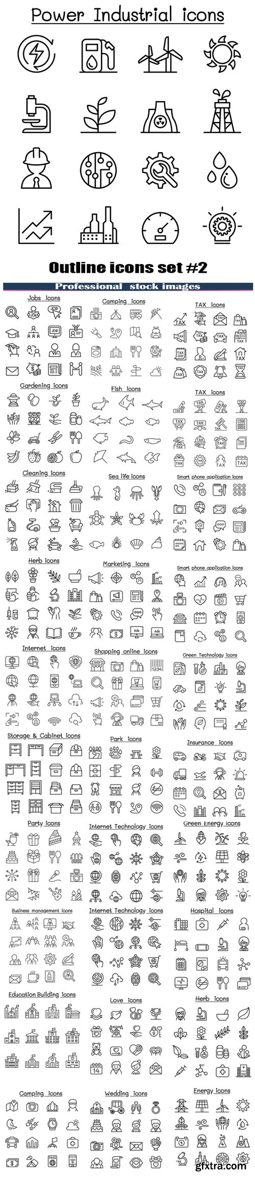 Outline icons set #2