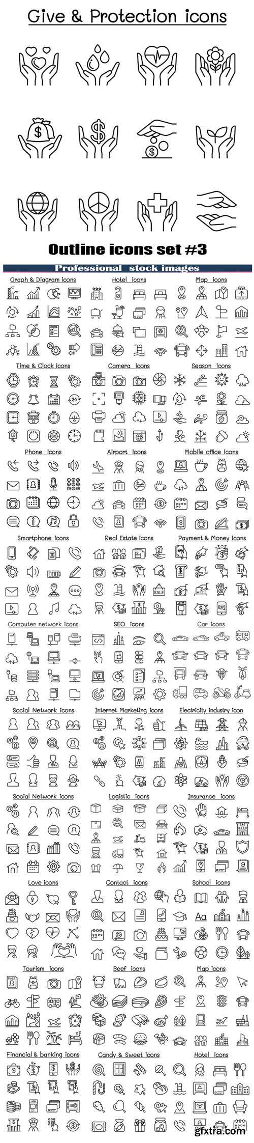 Outline icons set #3