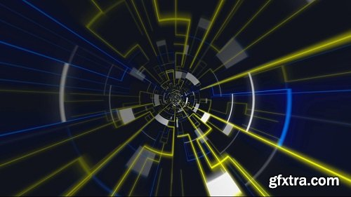 Led abstract energy vj loop background