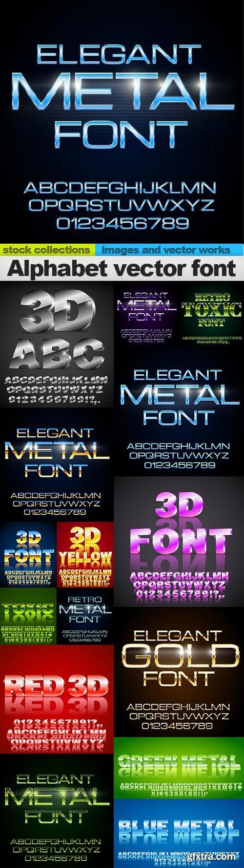 Alphabet vector font, 15 x EPS