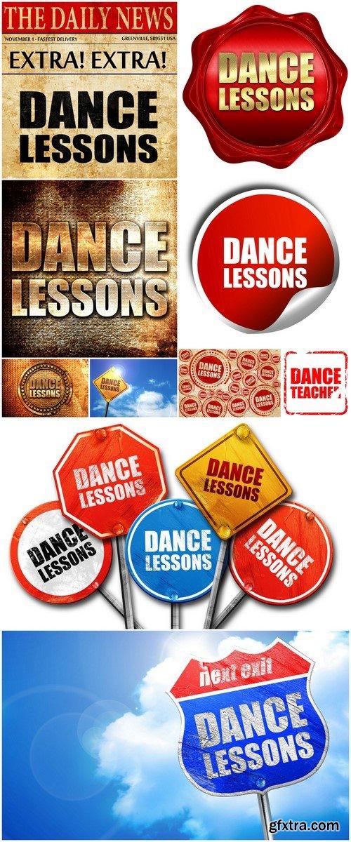 Dance lessons, signs 10X JPEG