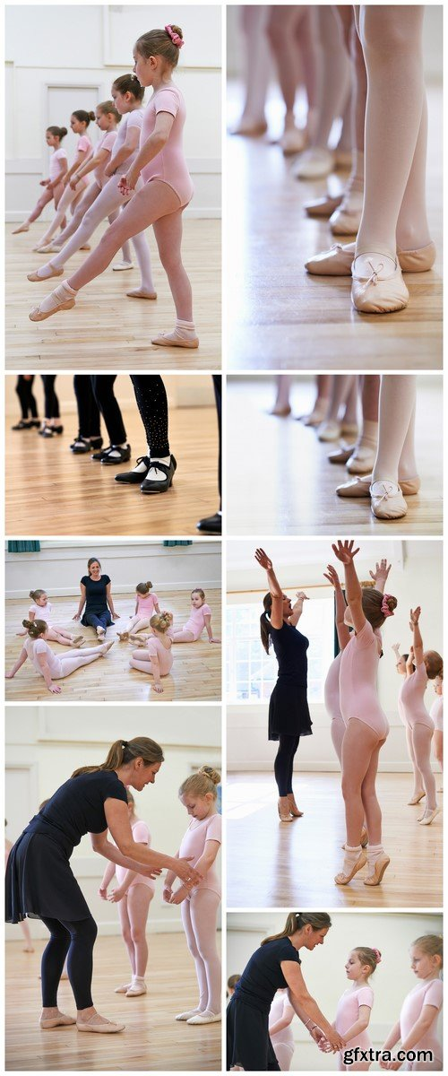 Group class in ballet dancing 8X JPEG