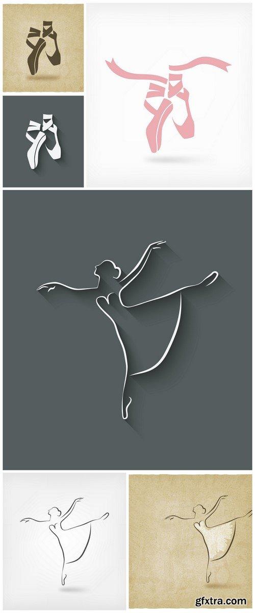 Ballet dance studio symbol Poster 6X EPS