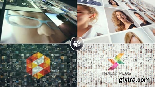 Videohive - Multi Video Wall Logo - 19391075