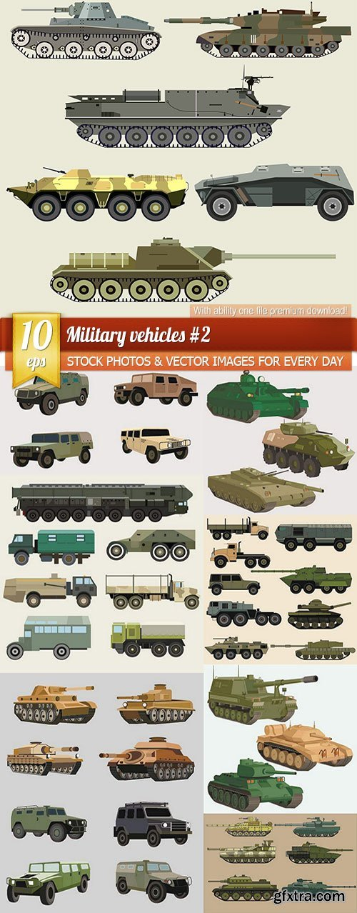 Military vehicles #2, 10 x EPS