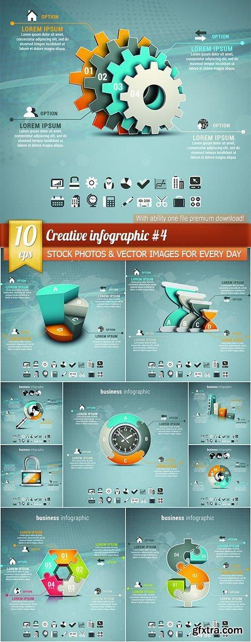 Creative infographic #4, 10 x EPS