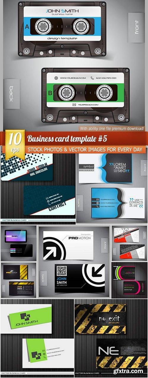 Business card template #5, 10 x EPS