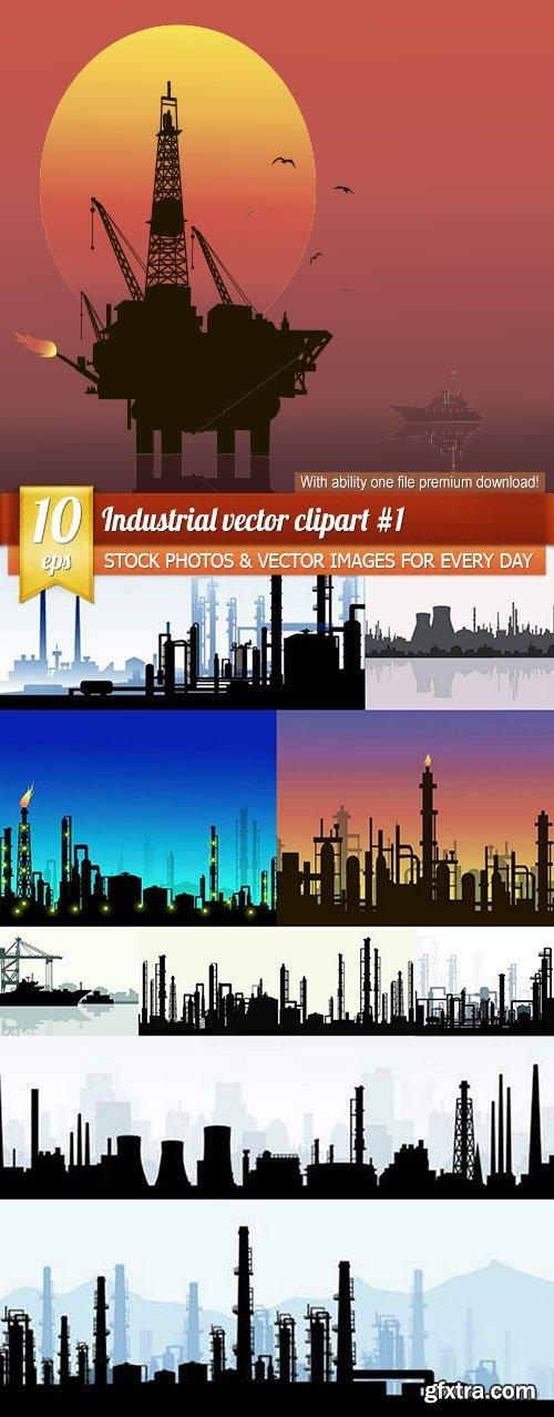 Industrial vector clipart #1, 10 x EPS