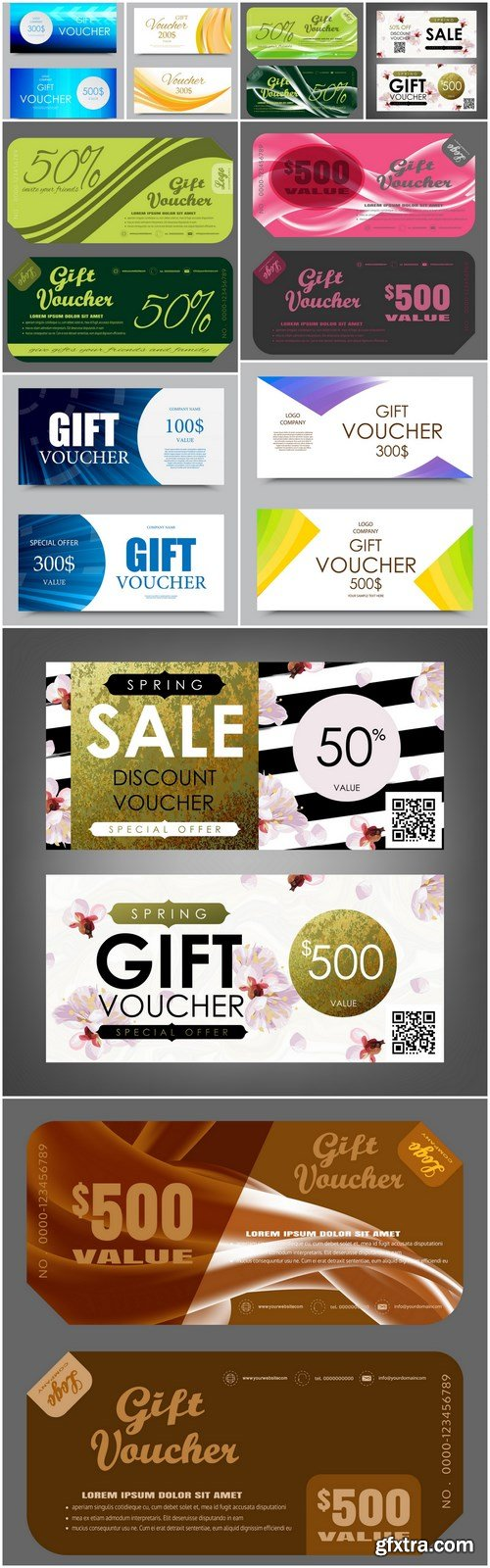 Gift Voucher Collection #33 - 10 Vector