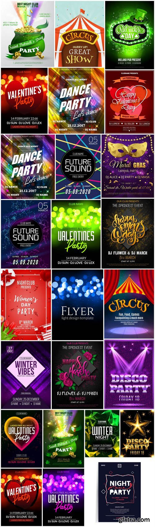 Different Party Flyer Template - 25 Vector