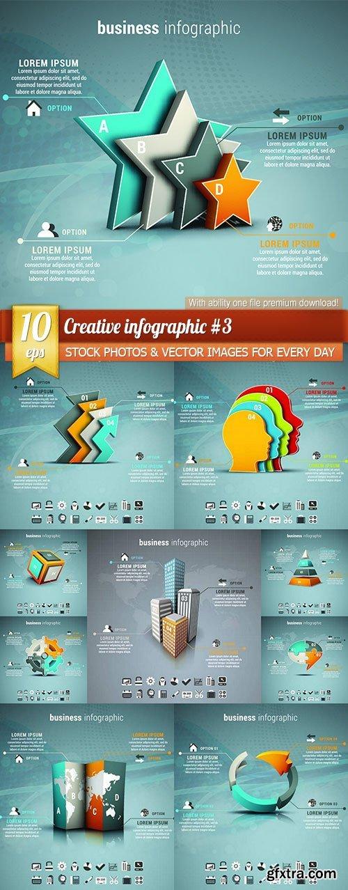 Creative infographic #3, 10 x EPS