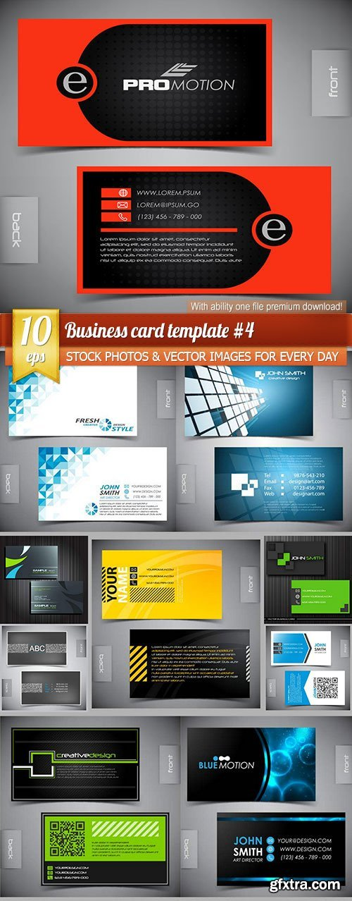 Business card template #4, 10 x EPS