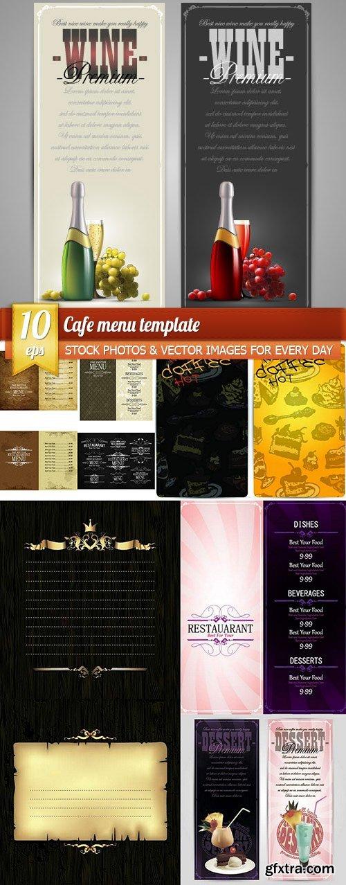 Cafe menu template, 10 x EPS