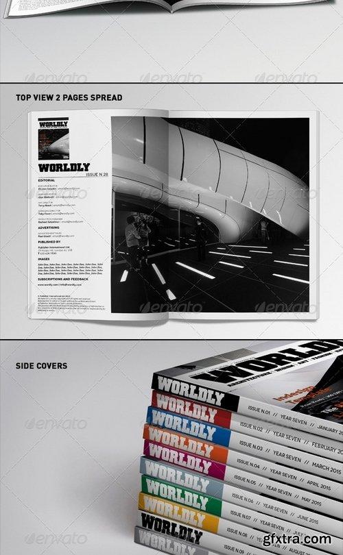 GraphicRiver - Realistic Magazines Mock-ups Templates 1623692