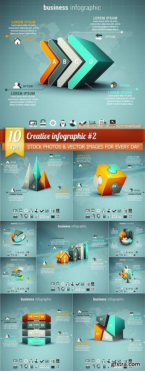 Creative infographic #2, 10 x EPS