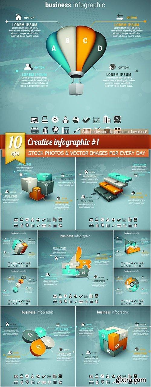 Creative infographic #1, 10 x EPS