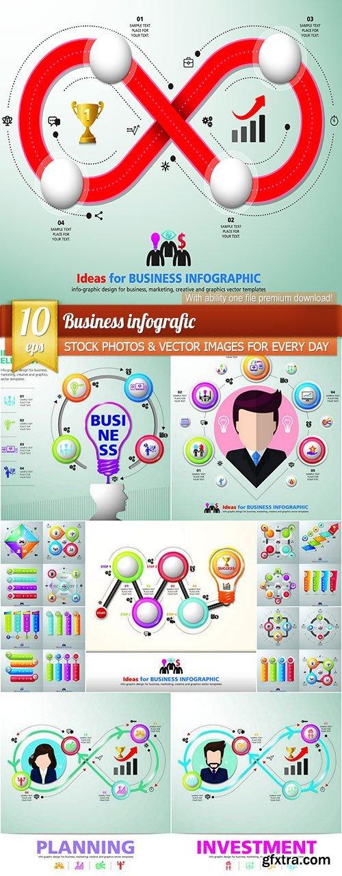 Business infografic, 10 x EPS