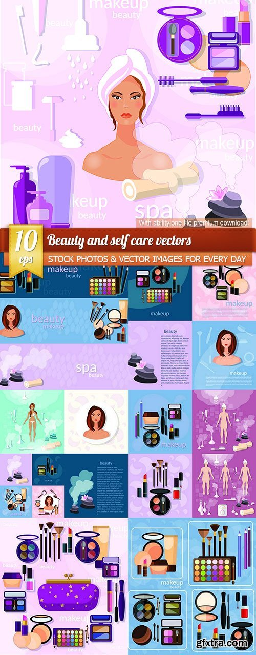 Beauty and self care vectors, 10 x EPS