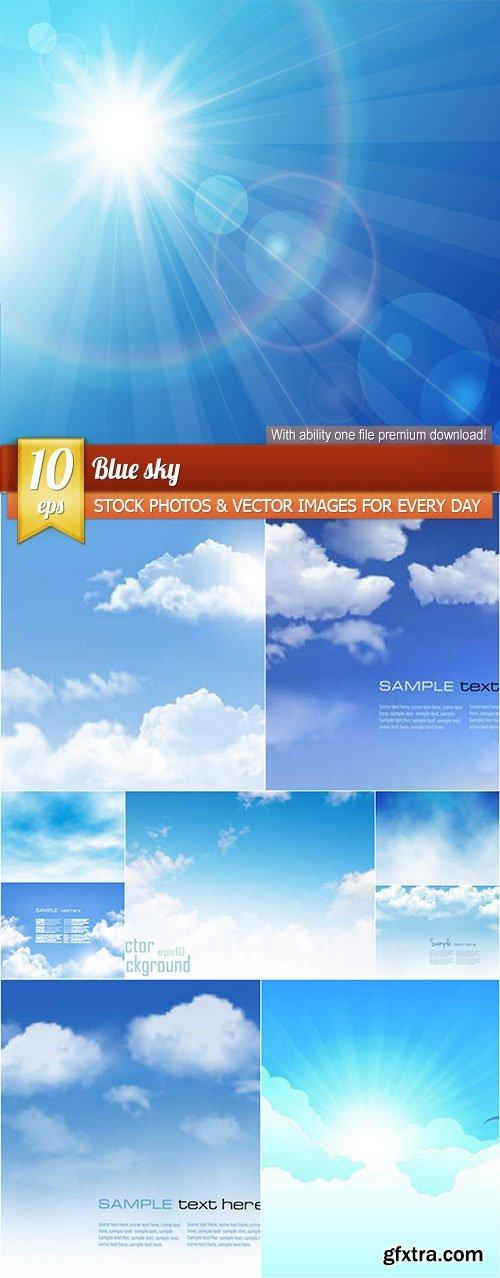 Blue sky, 10 x EPS