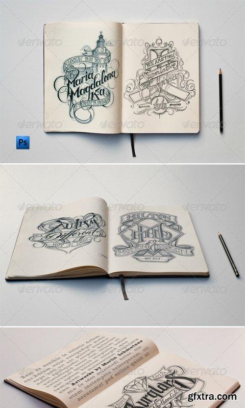GraphicRiver - Sketch Book Mockups 5916584
