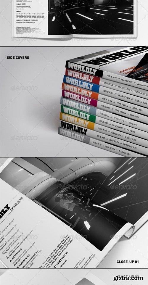 GraphicRiver - Realistic Magazine Mockups Bundle 6688175