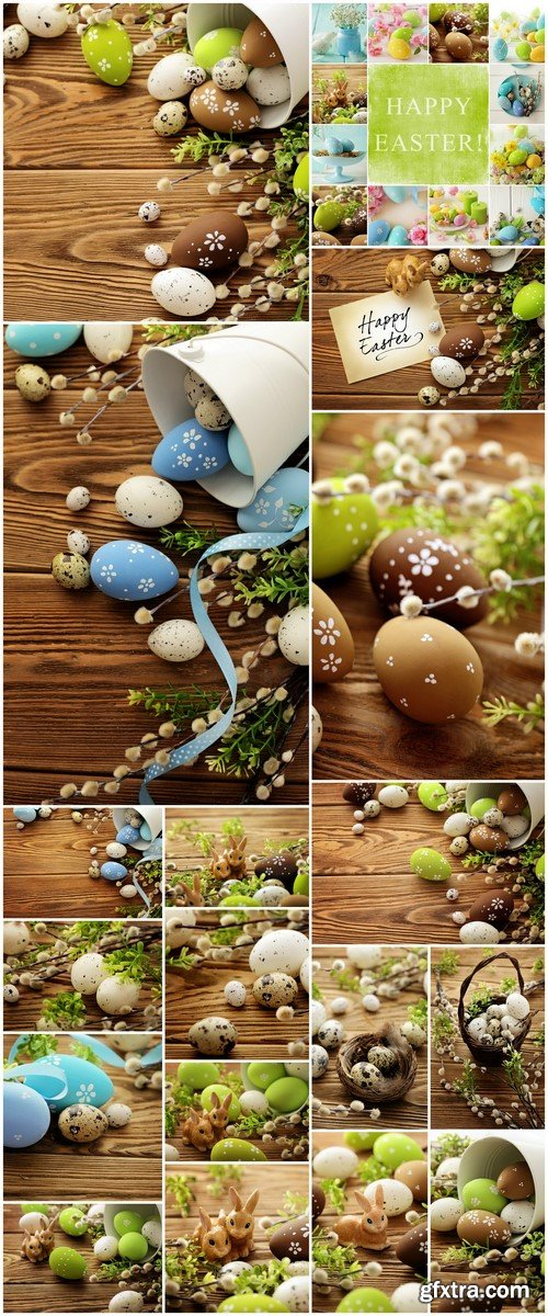 Eggs easter decoration wood background 18X JPEG