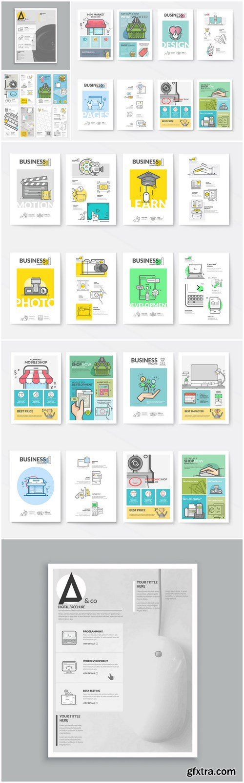 Creative Business Brochure Template - 8 Vector