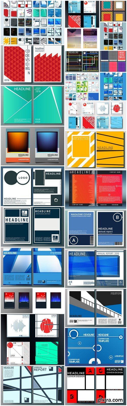 Abstract Cover Template Design - 28 Vector