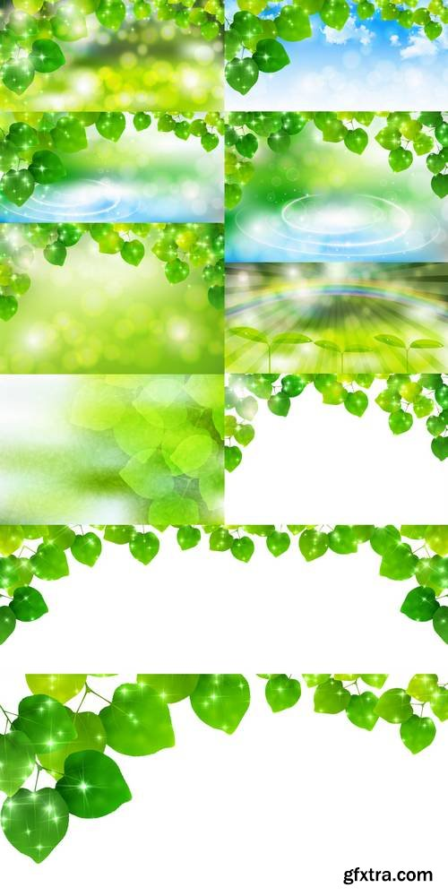 Green Leaves - Nature Background