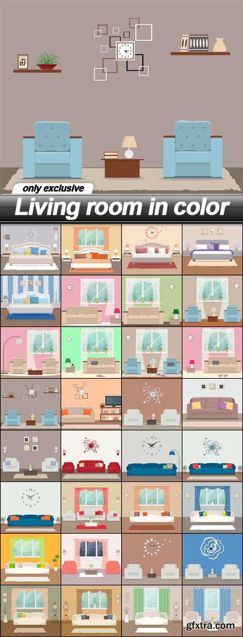 Living room in color - 32 EPS