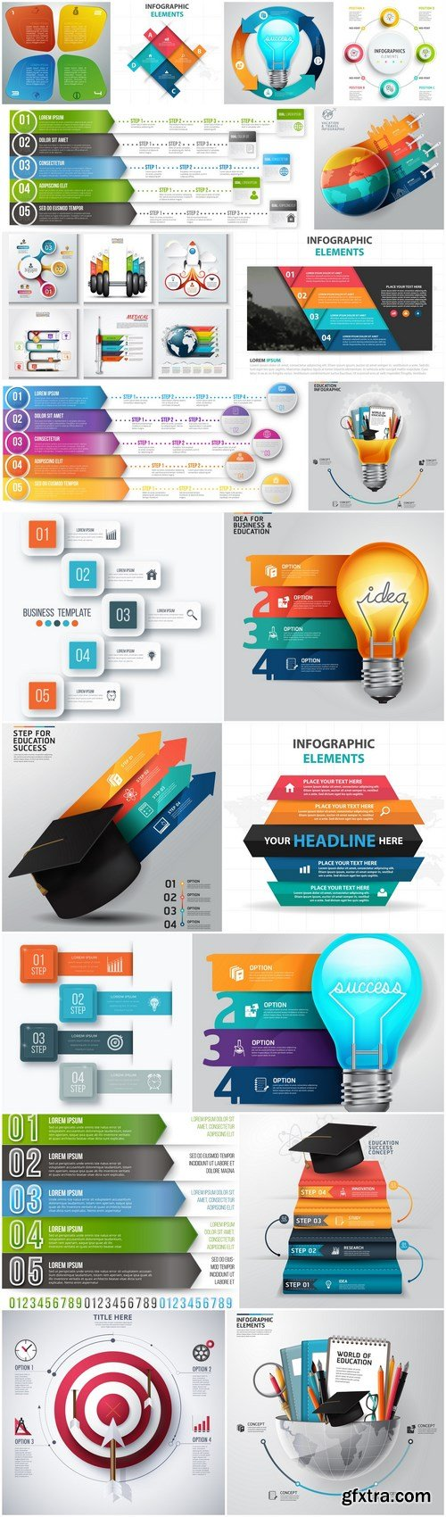 Infographics Design Elements #284 - 20 Vector