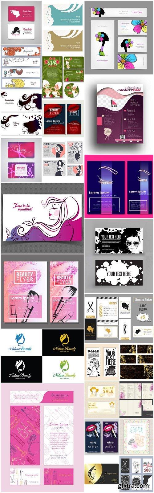 Fashion Beauty Salon Card #2 - 25 Vector