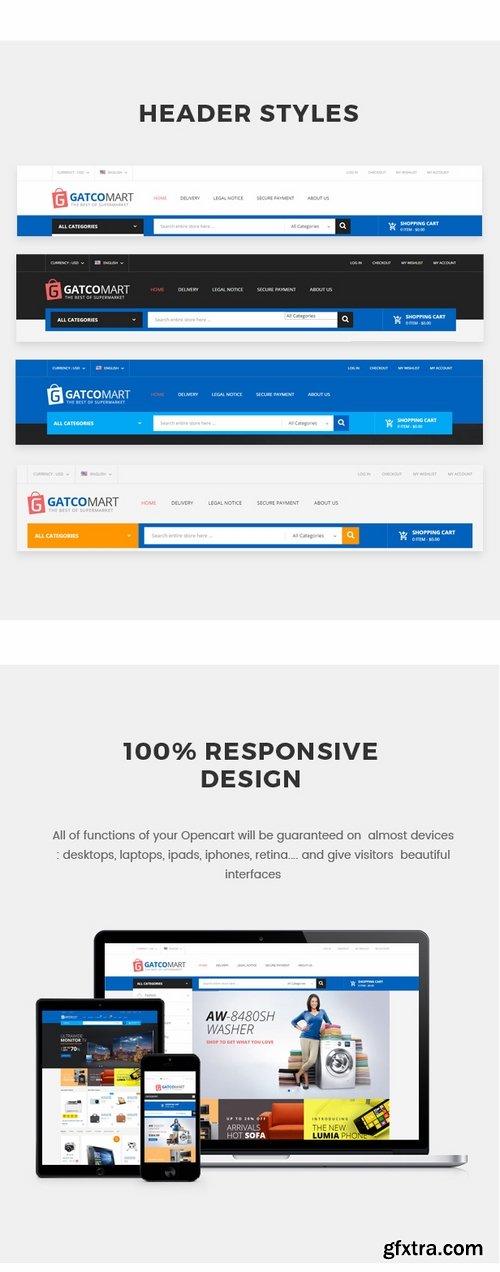 ThemeForest - GatcoMart - Multipurpose Responsive Opencart Theme 19263634