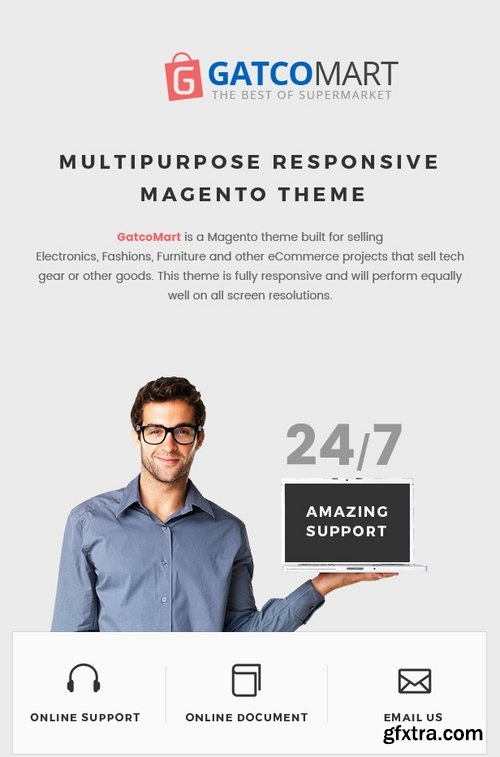 ThemeForest - GatcoMart - Multipurpose Responsive Magento Theme 19146978
