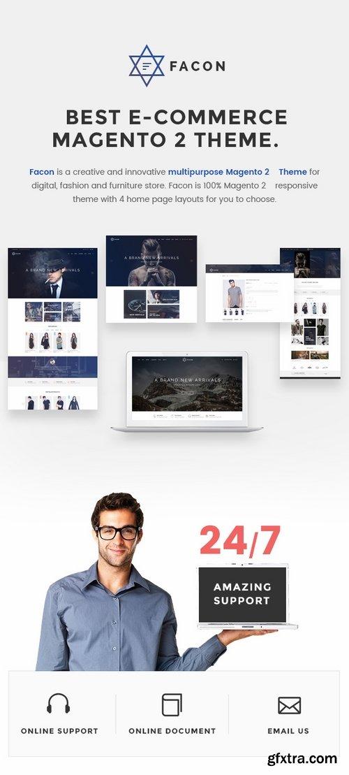 ThemeForest - Facon - Fashion Responsive Magento 2 Theme 16382344