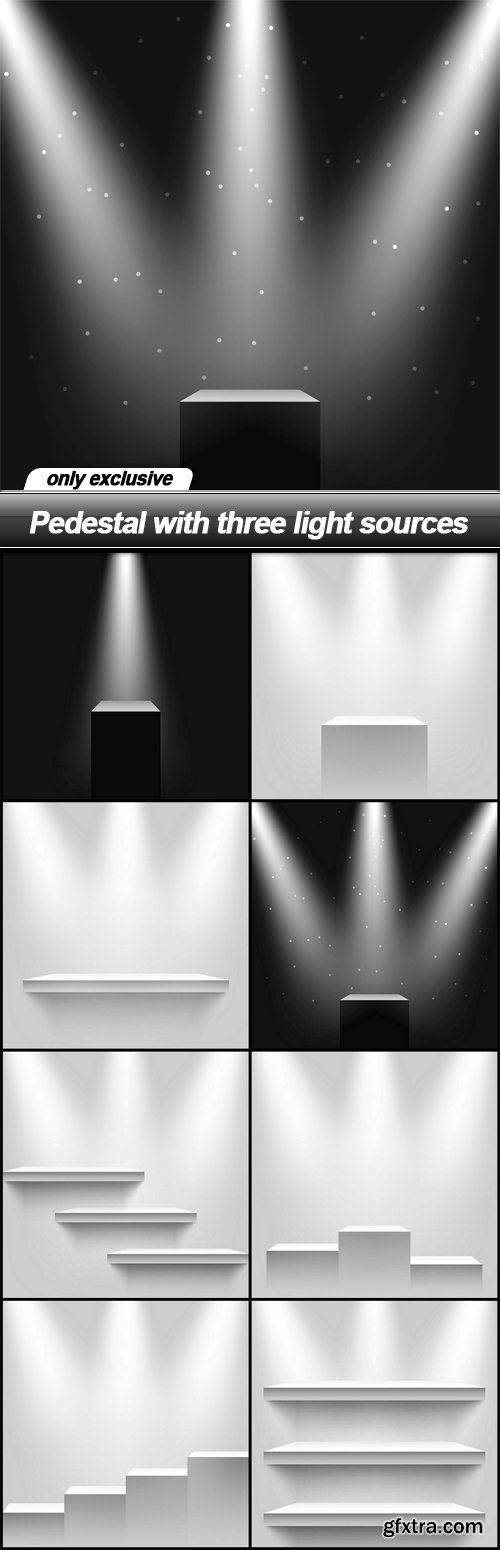 Pedestal with three light sources - 8 EPS