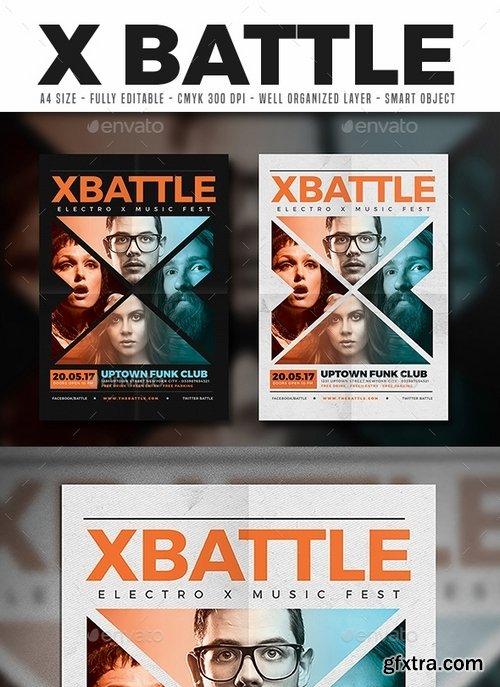 GraphicRiver - X Battle Music Flyer 17373429