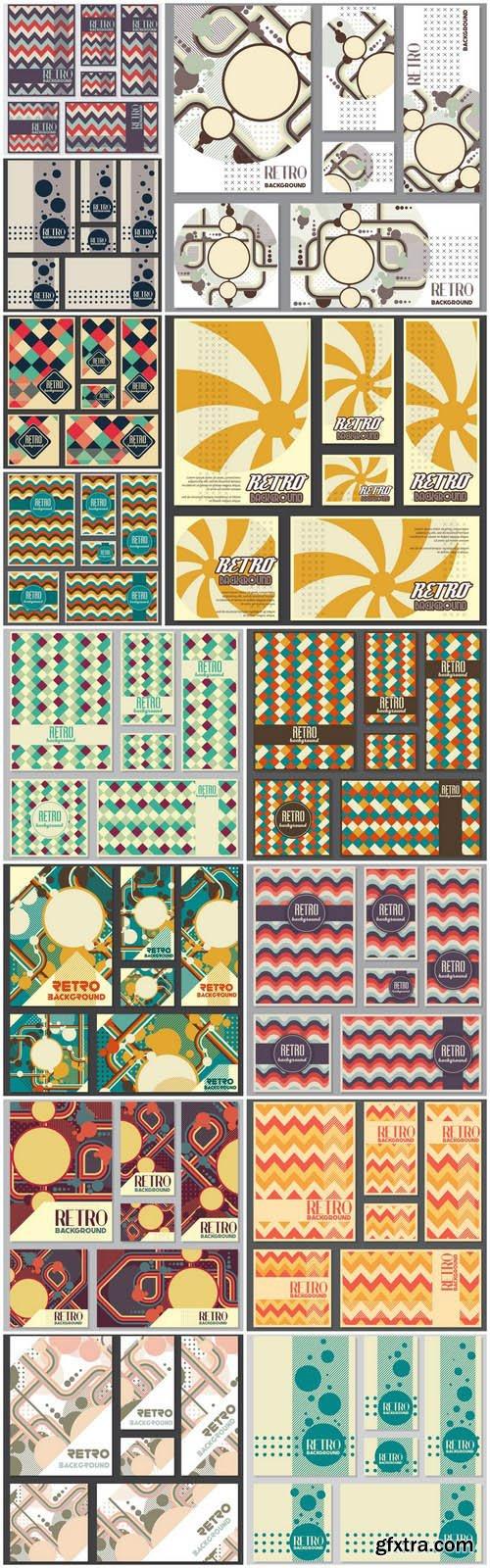Retro Vintage Card Banners - 15 Vector