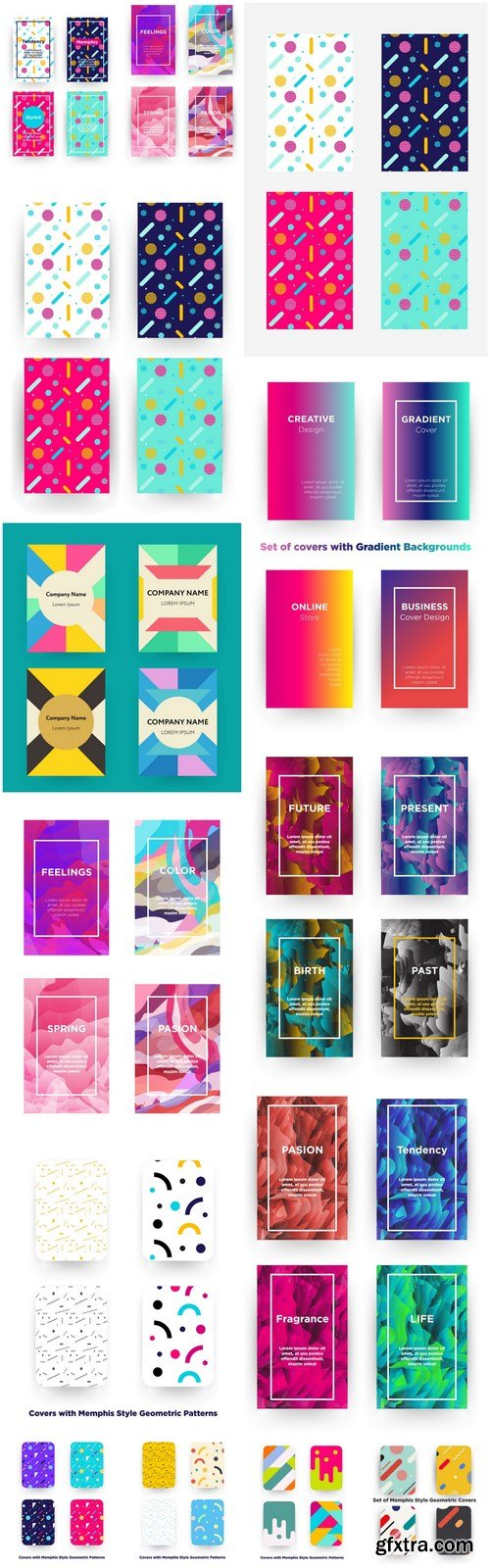 Abstract Cover Template Design - 14 Vector