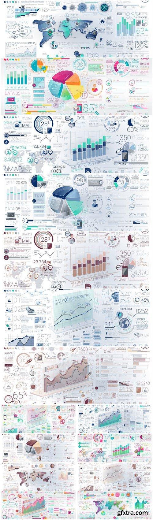 Infographics Design Elements #285 - 15 Vector