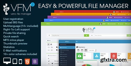 CodeCanyon - Veno File Manager v2.6.3 - host and share files - 6114247