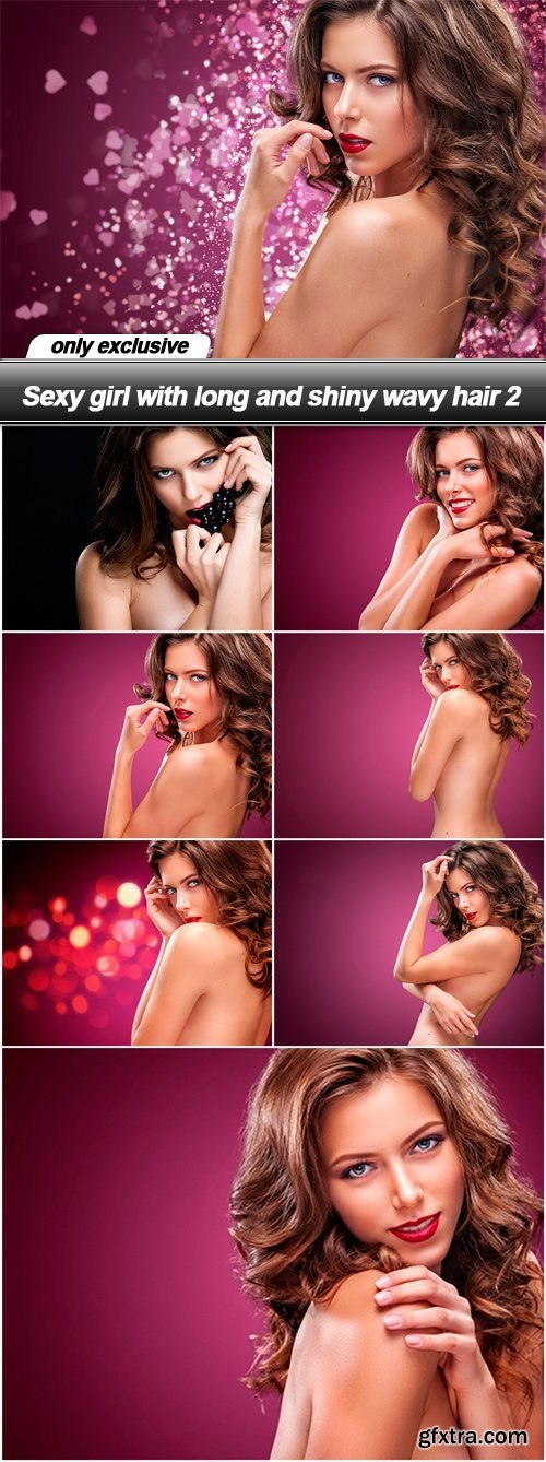 Sexy girl with long and shiny wavy hair 2 - 8 UHQ JPEG