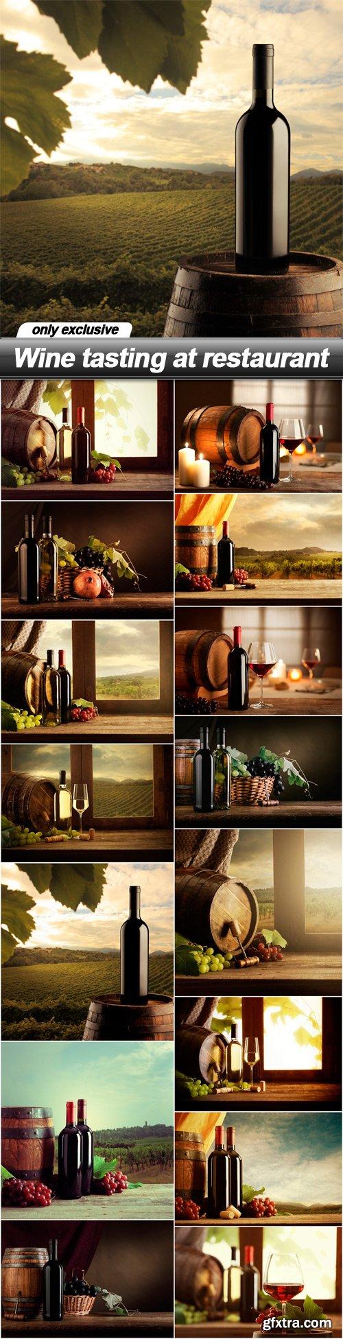Wine tasting at restaurant - 15 UHQ JPEG