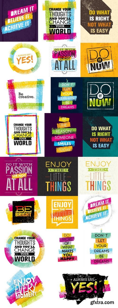 Creative Motivation Quote. Vector Typography Poster